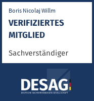 DESAG Sachverständigen-Zertifikat: boris_nicolaj.willm